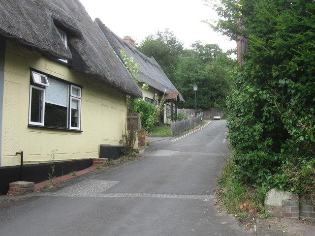 Cottages at the top of Castle Lane, Castle Hedingham, Essex