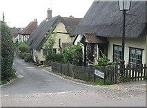 TL7835 : Cottages at the top of Castle Lane, Castle Hedingham, Essex by Derek Voller