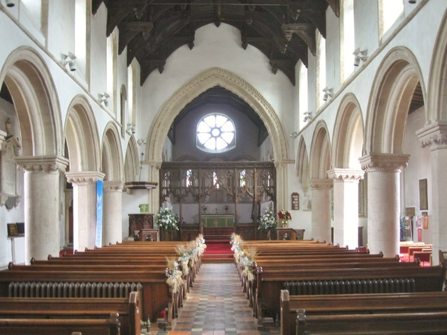 Interior of St. Nicholas' Church, Castle Hedingham, Essex