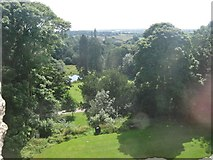 TL7835 : View from a window in the Keep, Hedingham Castle, Essex by Derek Voller