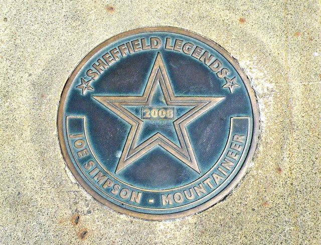 Photo of Joe Simpson bronze plaque