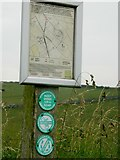 SK2057 : Permissive Path sign to Minninglow Hill by Rob Howl
