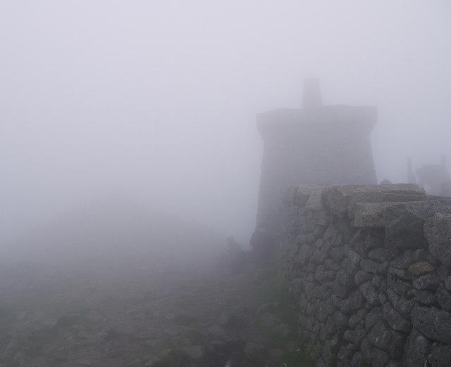 The summit of Slieve Donard