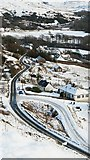 NG3864 : The A855 from Idrigill in winter by Uilleam Donnachaidh