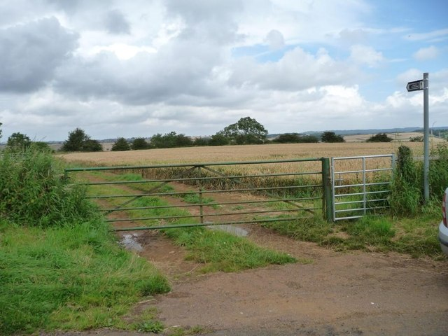 Public footpath to Preston