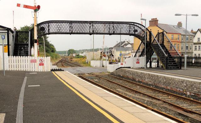 Footbridge, Castlerock station (2)