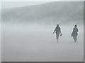 NO6949 : Walking in the Haar by Anne Burgess
