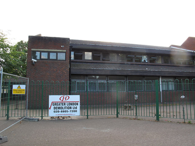 John Roan School: demolition about to start