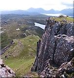 NG5739 : Rocky outcrops on Dun Caan by Gordon Hatton