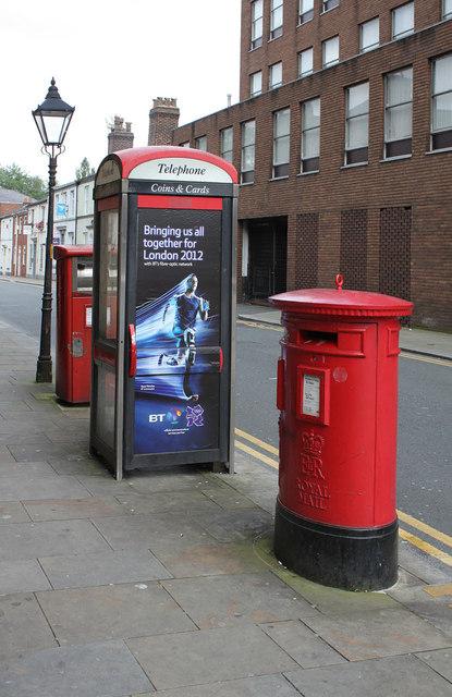 Silverwell Street | Silverwell St / Bradshawgate postbox (ref. BL1 2020 and 202)