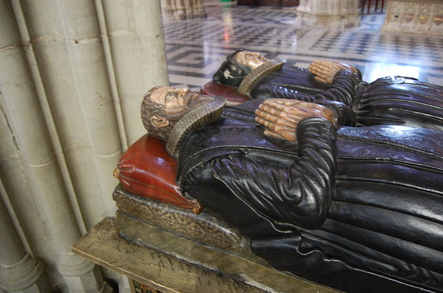 Tomb of Robert Wilde and wife, Worcester Cathedral
