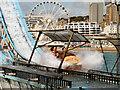 TQ3103 : Watersplash and Ferris Wheel, Brighton Pier by David Dixon