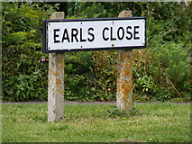 TM3876 : Earls Close sign by Adrian Cable