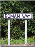 TM3877 : Roman Way sign by Adrian Cable