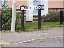 TM3877 : Harepark Close sign by Adrian Cable
