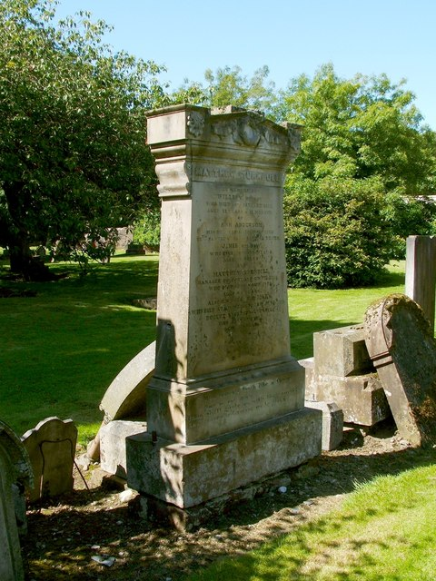 The gravestone of Matthew Turnbull