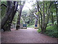 SZ2093 : Nature reserve and trail at Highcliffe Castle by Anthony Vosper