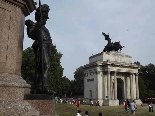 Wellington Arch from Wellington Memorial