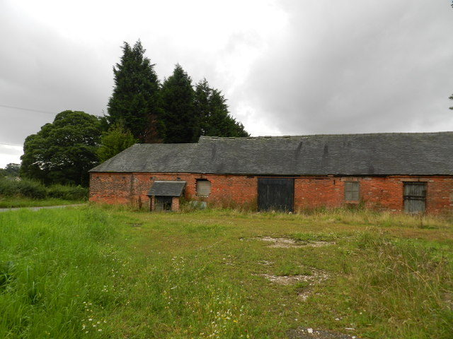 Back of old farm buildings