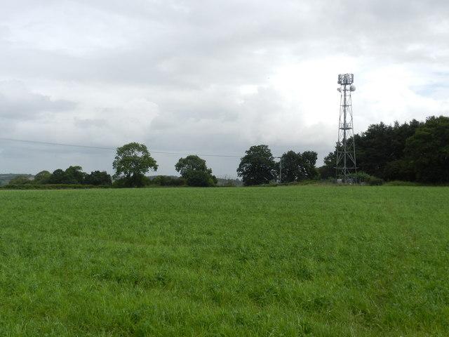 Telecomms mast, by Wood Lane