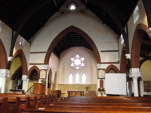 Interior of St Anne's church, Bermondsey