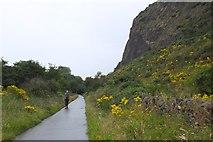 NT2772 : Cycle path below Samson's Ribs, Holyrood Park by Jim Barton
