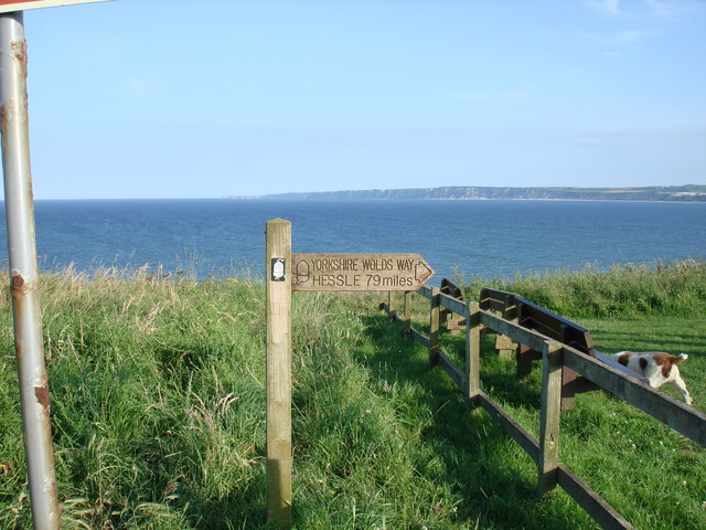 The Yorkshire Wolds Way from Filey country park