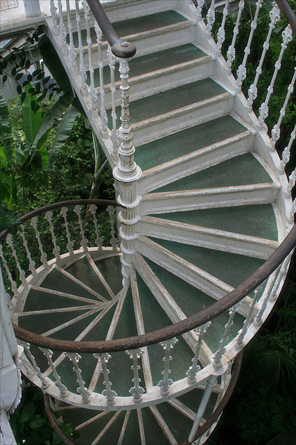 Spiral staircase in the Temperate House