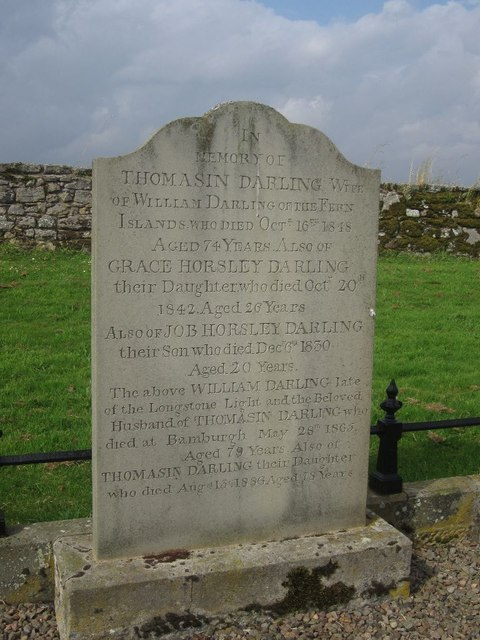 Headstone on Darling Family Grave, St Aidan's Churchyard