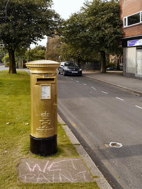 Bradley Wiggins' Gold Post Box, Chorley