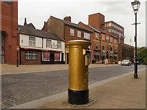 SD7109 : Gold Post Box, Churchgate by David Dixon