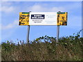 TM4176 : Wenhaston Quarry sign by Adrian Cable