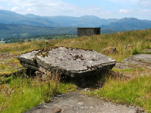 Remains of accommodation camp