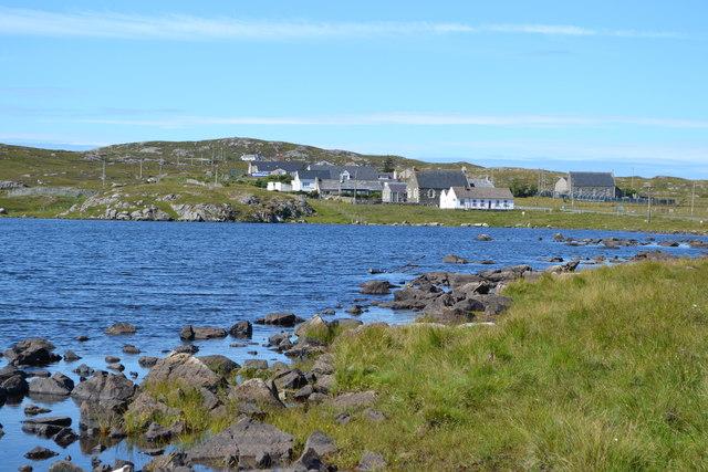 View across Loch Geal towards Breacleit