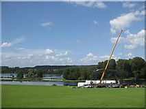 SE7170 : Erecting the stage for an outdoor event by Pauline E