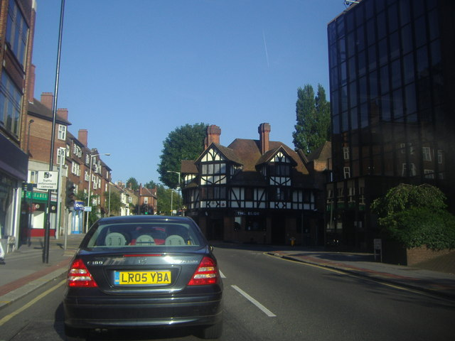 Coombe Street at the junction of South End, Croydon
