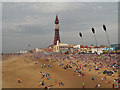 SD3035 : Blackpool Beach and Tower by David Dixon