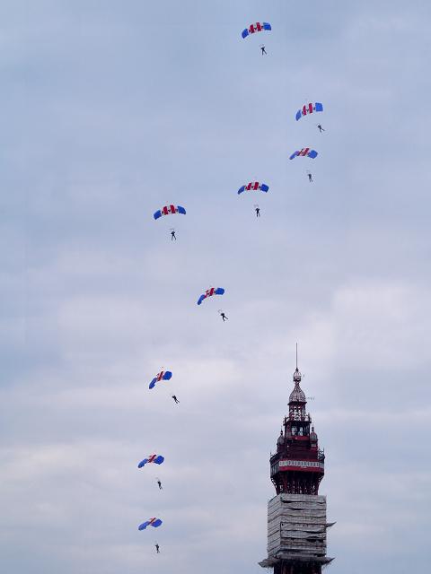 RAF Falcons, Blackpool Tower