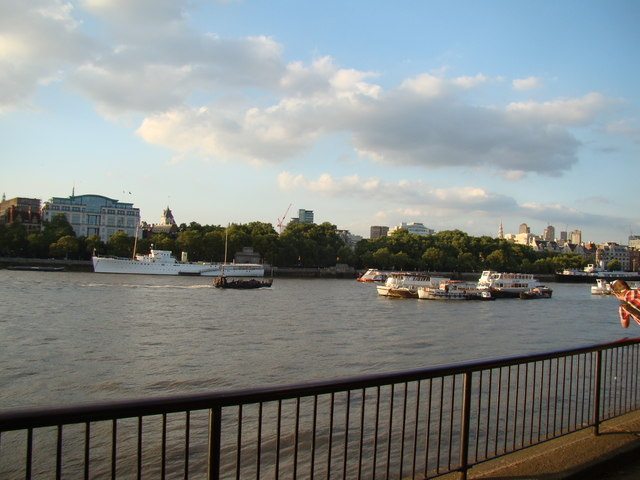 View of the North Bank from the South Bank