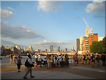 TQ3180 : View of St Paul's Cathedral, the Natwest Tower and the Gherkin from the South Bank by Robert Lamb