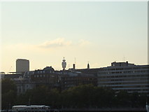 TQ3180 : View of the BT Tower and Centre Point from the South Bank by Robert Lamb