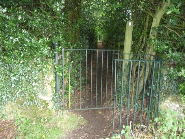 Part of Offa's Dyke Path near the Kymin