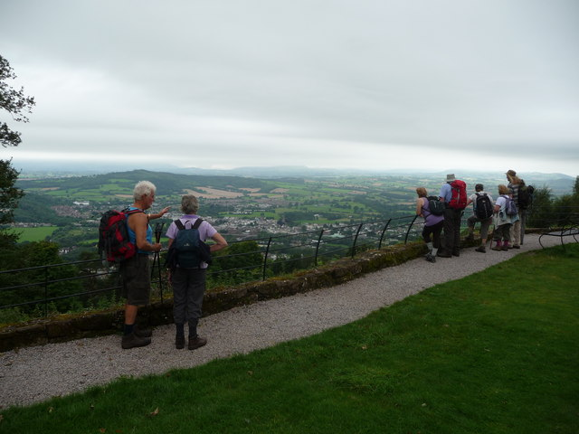 Part of the viewpoint at the Kymin