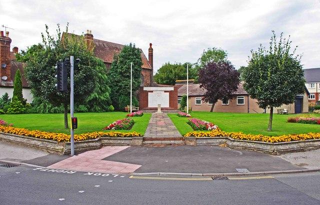 Stourport War Memorial Garden, corner of Vale Road and Mitton Street, Stourport-on-Severn