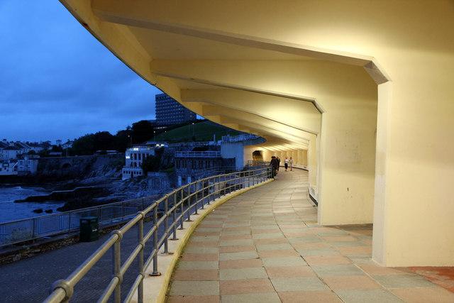 Art Deco Terrace, The Lido, Plymouth, Devon