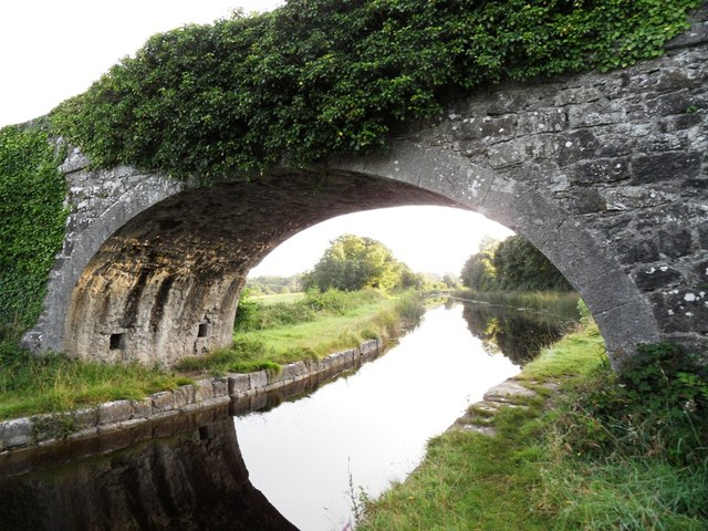 Grand Canal through Samuel Judge's Bridge in Ballysheil, Co. Offaly