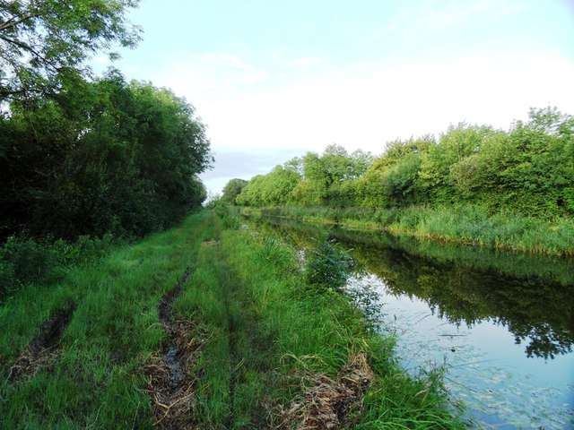 Grand Canal with terrible towpath in Ballyshane, Co. Offaly