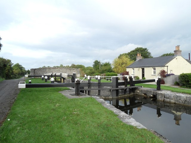 34th Lock and Clonony Bridge on the Grand Canal in Co. Offaly