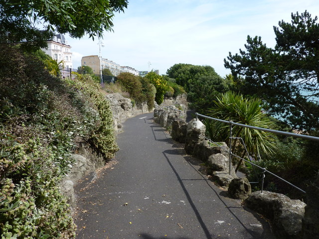 Top end of The Zig Zag Path, Folkestone