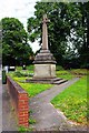SO8171 : Celtic style cross, corner of Church Drive and Minster Road, Stourport-on-Severn by P L Chadwick
